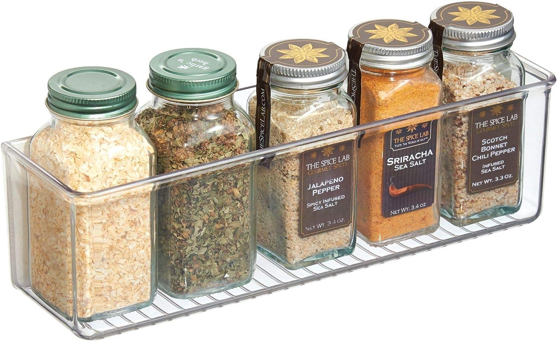 "iDesign AFFIXX Plastic Wall Mount Organizer Rack, Shelf for Kitchen, Bathroom, Office, Bedroom, Craft Room, 3"" x 11"" x 3.25"", Clear"