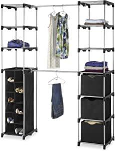 Whitmor Deluxe Double Rod Adjustable Closet Organization System