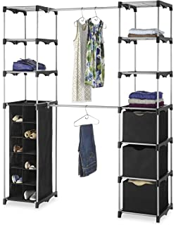 Attractive Whitmor Deluxe Double Rod Adjustable Closet Organization System