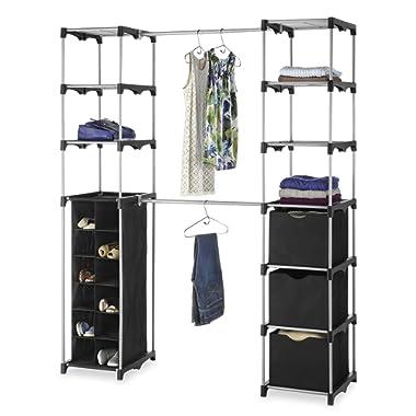 Whitmor Deluxe Double Rod Adjustable Closet Organization System