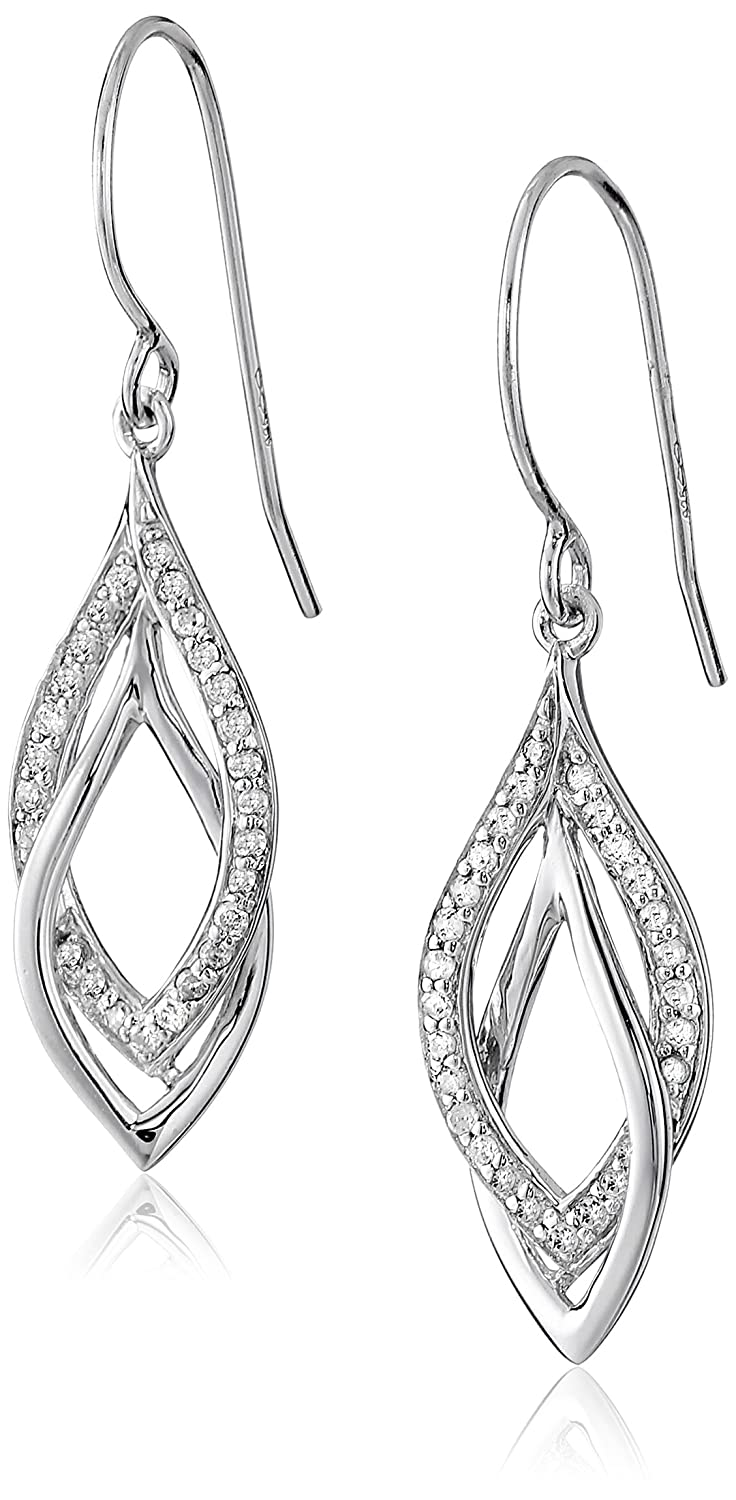Sterling Silver 1/4cttw Diamond Dangle Earrings Amazon Collection R9700V8ZZSZ0