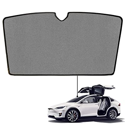 BMZX Model X Car Sunroof Rear Windshield Shade Foldable Sunshade Heat Isolate Sunshade Above The 1st Row: Automotive