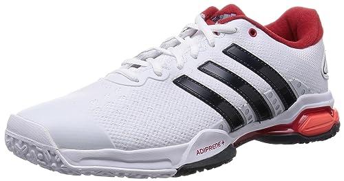 buy popular acad7 63a6d adidas Barricade Team 4 OC - Zapatillas para Hombre, Color BlancoGrisRojo,  Talla 40 23 Amazon.es Zapatos y complementos
