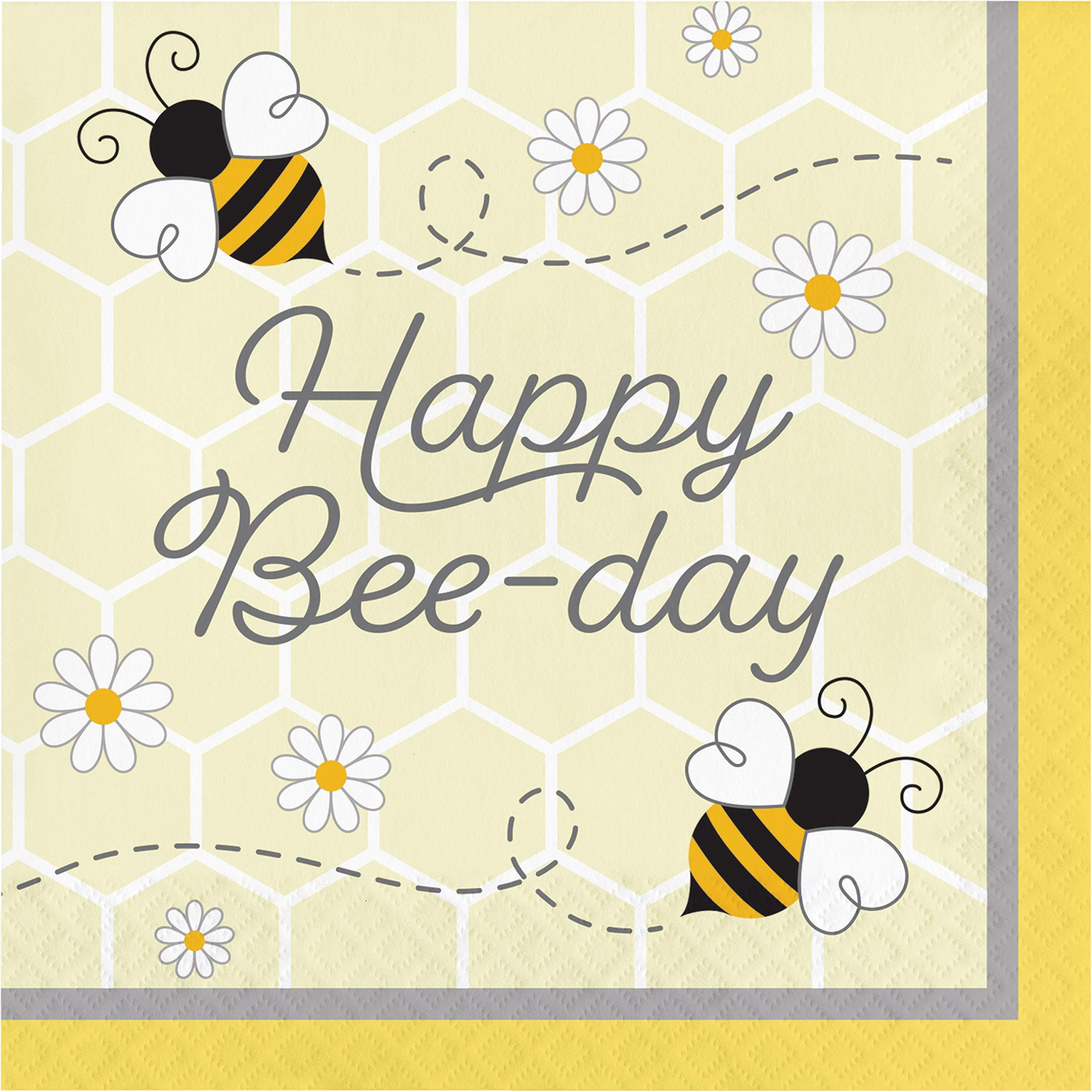 Bumblebee Baby Happy Birthday Napkins, 48 ct