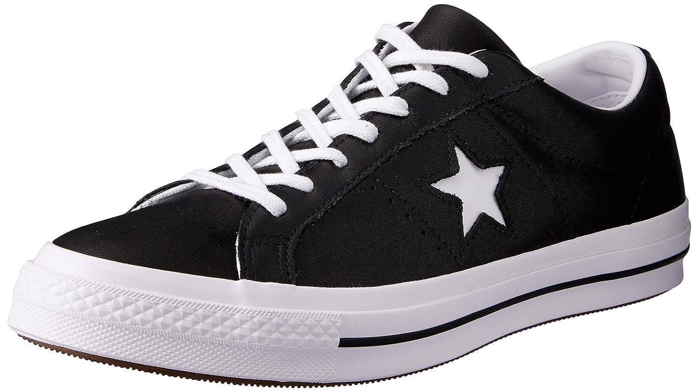 svart  vit  vit Converse Man's One Star Star Star Ox 163385c Low -Top skor  stora rabattpriser