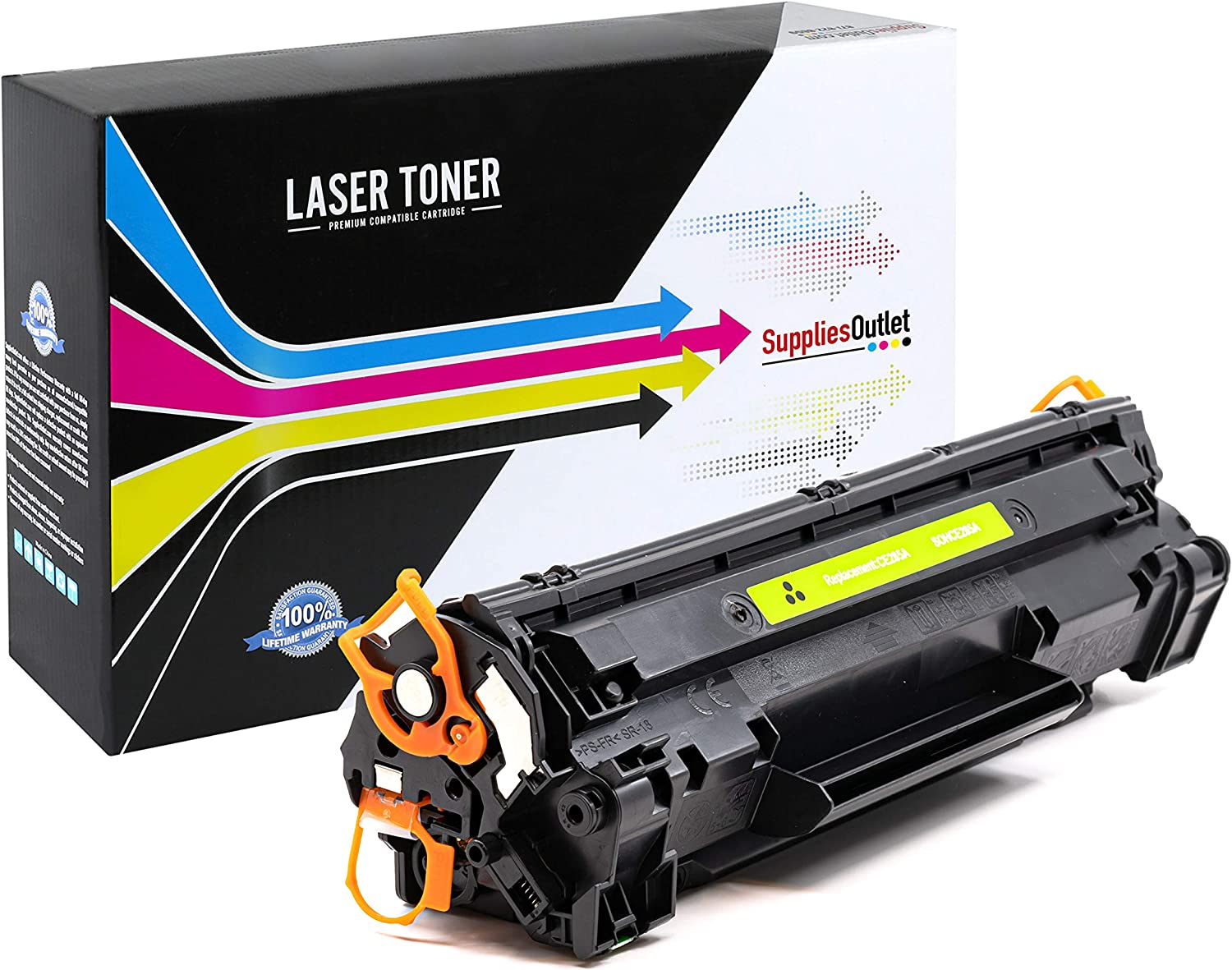 CE285A SuppliesOutlet Compatible Toner Cartridge Replacement for HP 85A Black,5 Pack