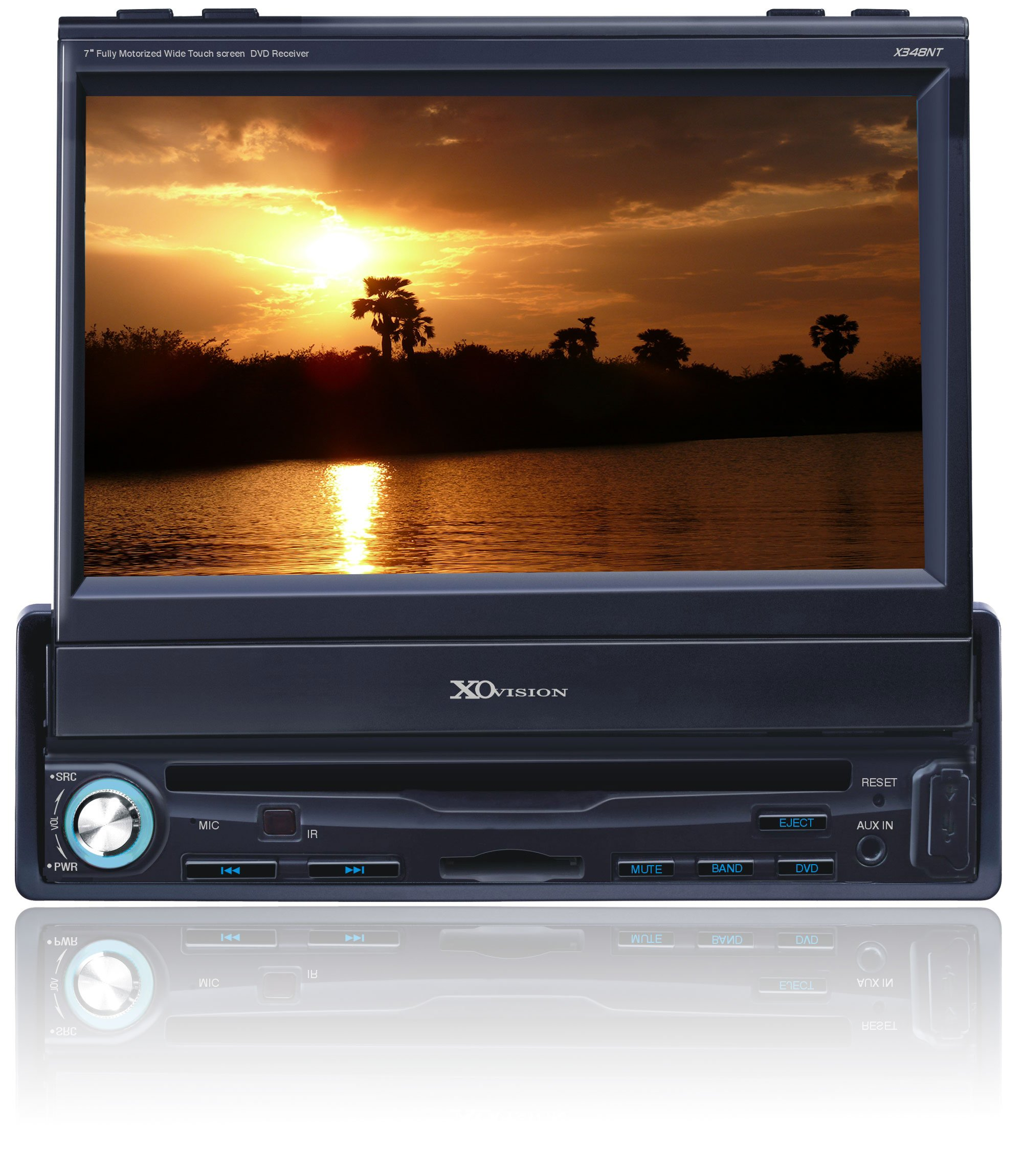 XO Vision X348NT 7-Inch In-Dash Wide Tocuh Screen Motorized DVD Reeiver by XO Vision