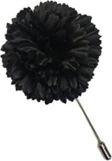 product image for Black Carnation Lapel Boutonniere Pin For Men or Women Silk