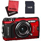 【セット】 OLYMPUS オリンパス コンパクトデジタルカメラ Tough TG-5 レッド&SD16GB&クロス