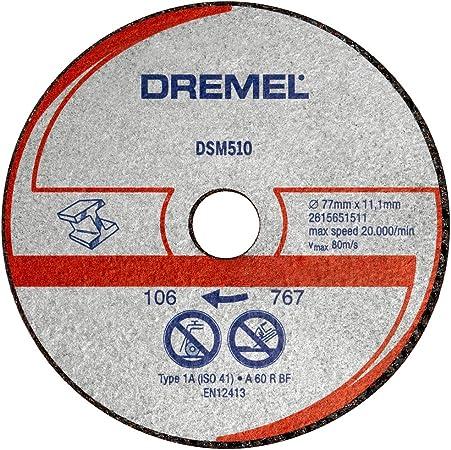 Dremel S510 disques m/étal pour DSM20 77 mm
