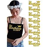 PrinturShirt Birthday Squad Shirts for Women Set - Birthday Team Group Shirts - Iron On Heat Transfer Vinyl, 8pcs, 4 by 9 Inc