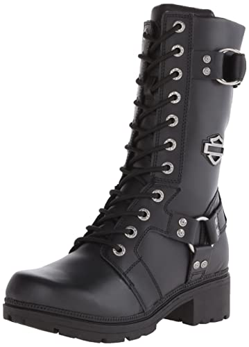 HarleyDavidson Womens Eda Motorcycle Boot       Black