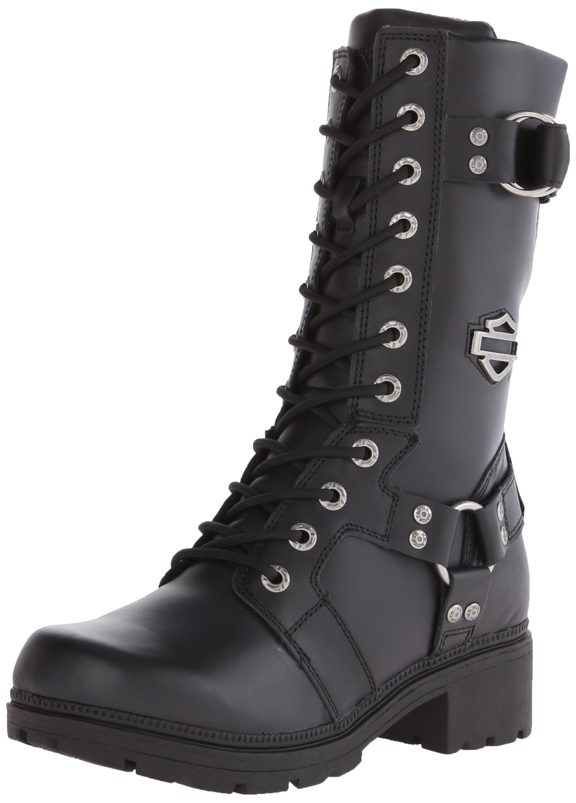 Harley-Davidson Women's Eda Motorcycle Boot, Black, 5 M US