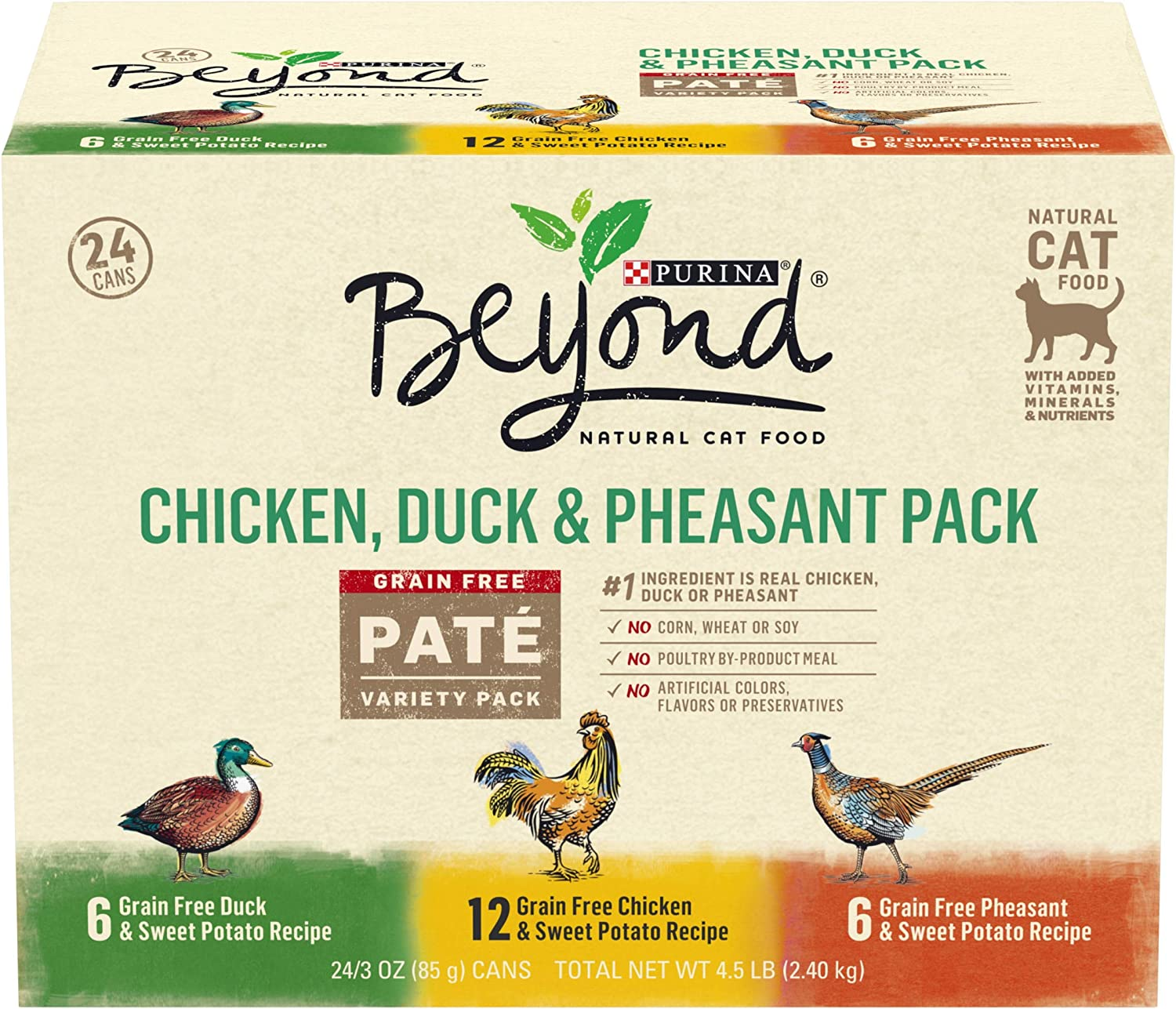 Purina Beyond Grain Free, Natural, Adult Wet Cat Food Pate Variety Packs