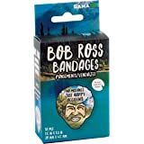 GAMAGO Bob Ross Adhesive Bandages - Set of 18 Individually Wrapped Self Adhesive Bandages - Sterile, Latex-Free…