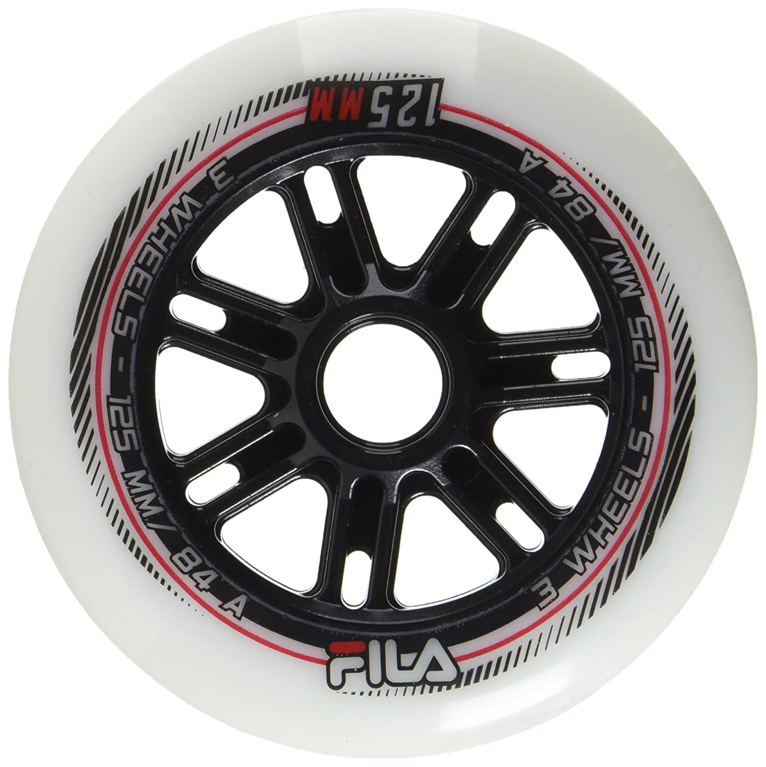 Fila Wheels 72mm/84A X 8 Rotoli, Bianco (Weiß), 100 mm