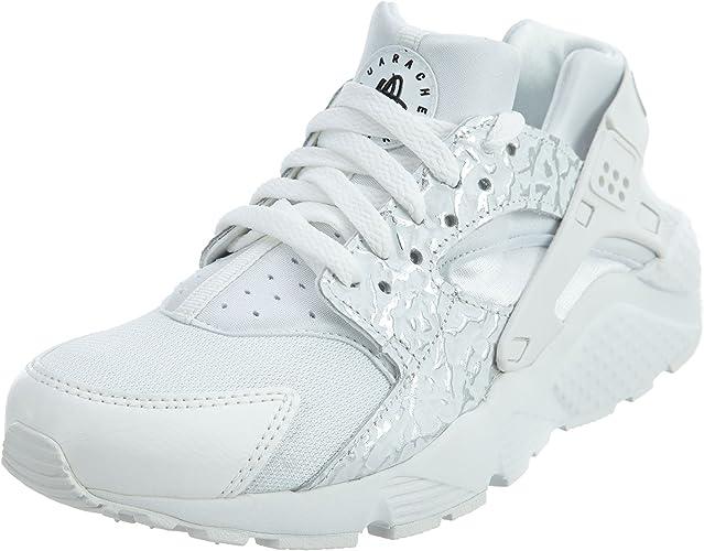 Nike Youth Huarache Run Summit White Metallic Silver Mesh