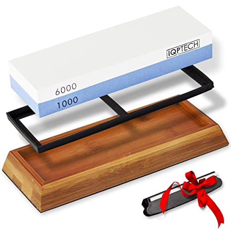Can You Have Too Much Grit >> Sharpening Stone Set By Iqptech 1000 6000 Grit Kitchen Knife Whetstone Compatible With All Blades Knives Razors Tools And Much More Polisher