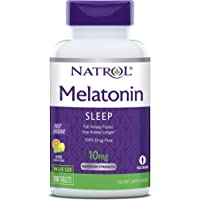 Natrol Melatonin Fast Dissolve Tablets, Helps you fall asleep faster, Stay asleep longer, Easy to take, Dissolves in mouth, Faster absorption, Maximum strength, Citrus Punch  flavor, 10mg, 100 Count