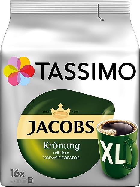 Tassimo Cápsulas de Café Jacobs Krönung XL, Café Molido de Tueste ...