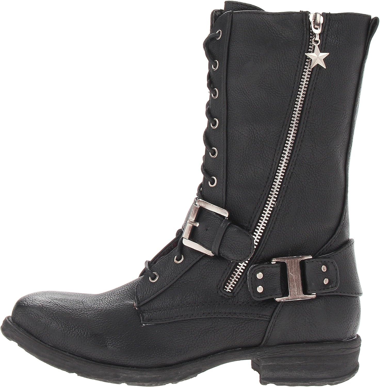 47cc3df32ccb Amazon.com | Very Volatile Women's Oracle Boot, Black, 6 B US | Mid-Calf