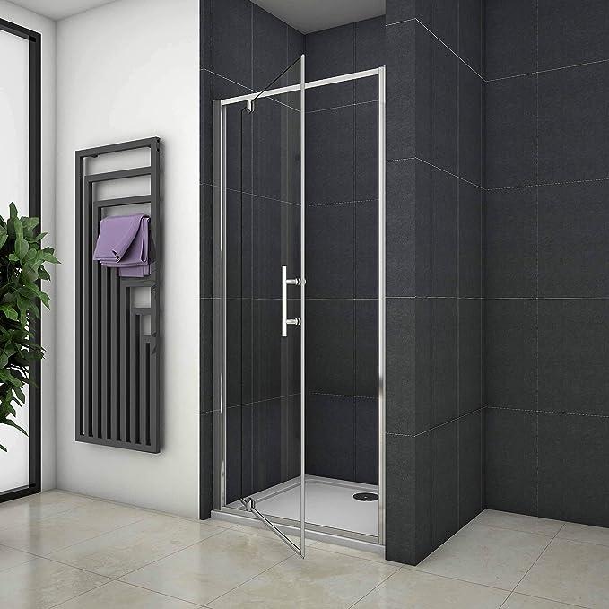 Mamparas Puerta Abatible Pantalla de Ducha 6mm cristal para Baño ...