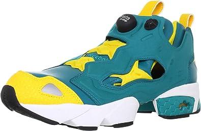 Reebok Pump Fury Chaussures Mode Sneakers Homme Vert Jaune