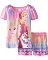 Disney Big Girls' FROZEN Two-Piece Pajama Set