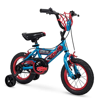 Amazon Com Huffy 16 12 Marvel Spider Man Boys Bike W Training