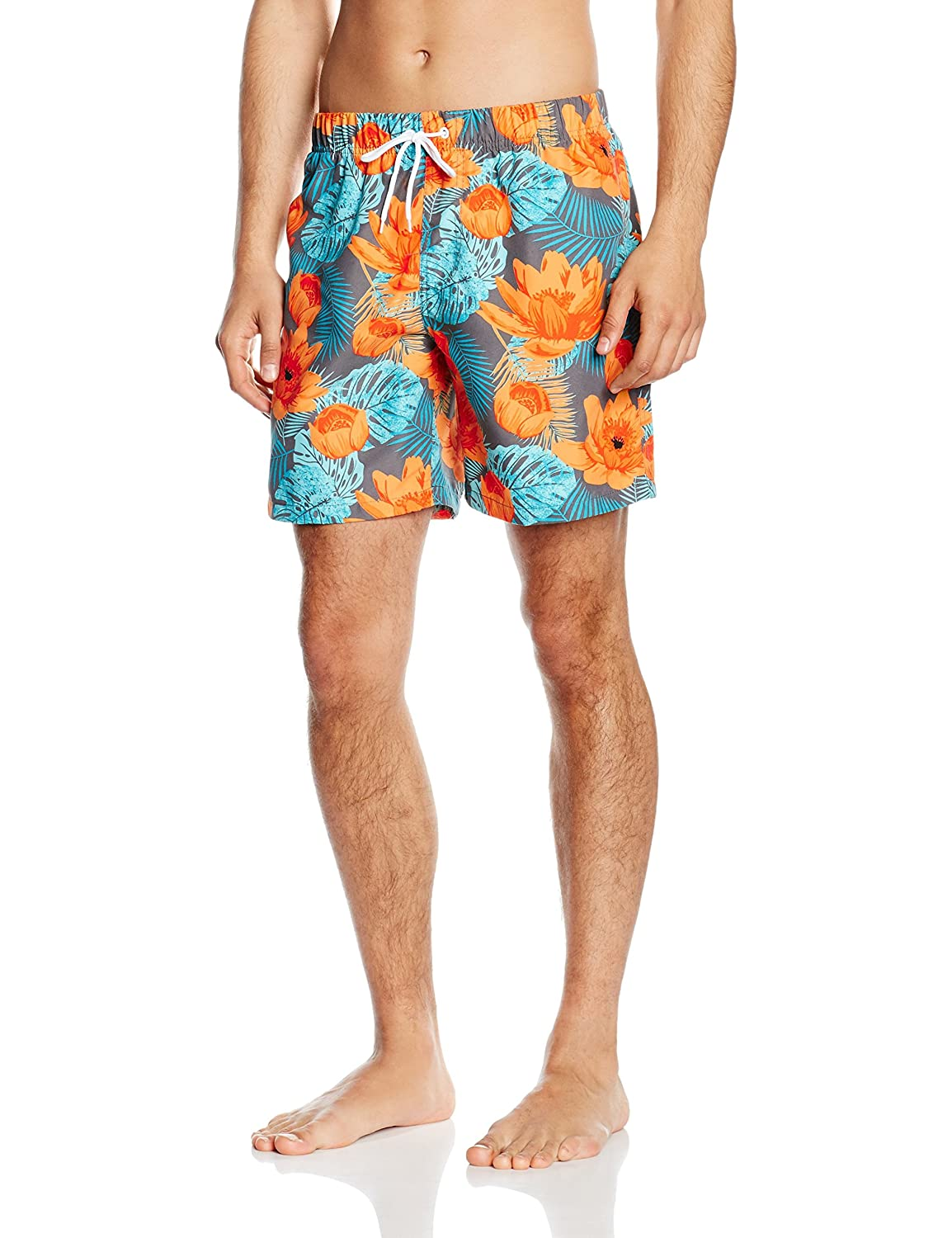 TALLA M. Miami Beach Swimwear Flower - Shorts Hombre