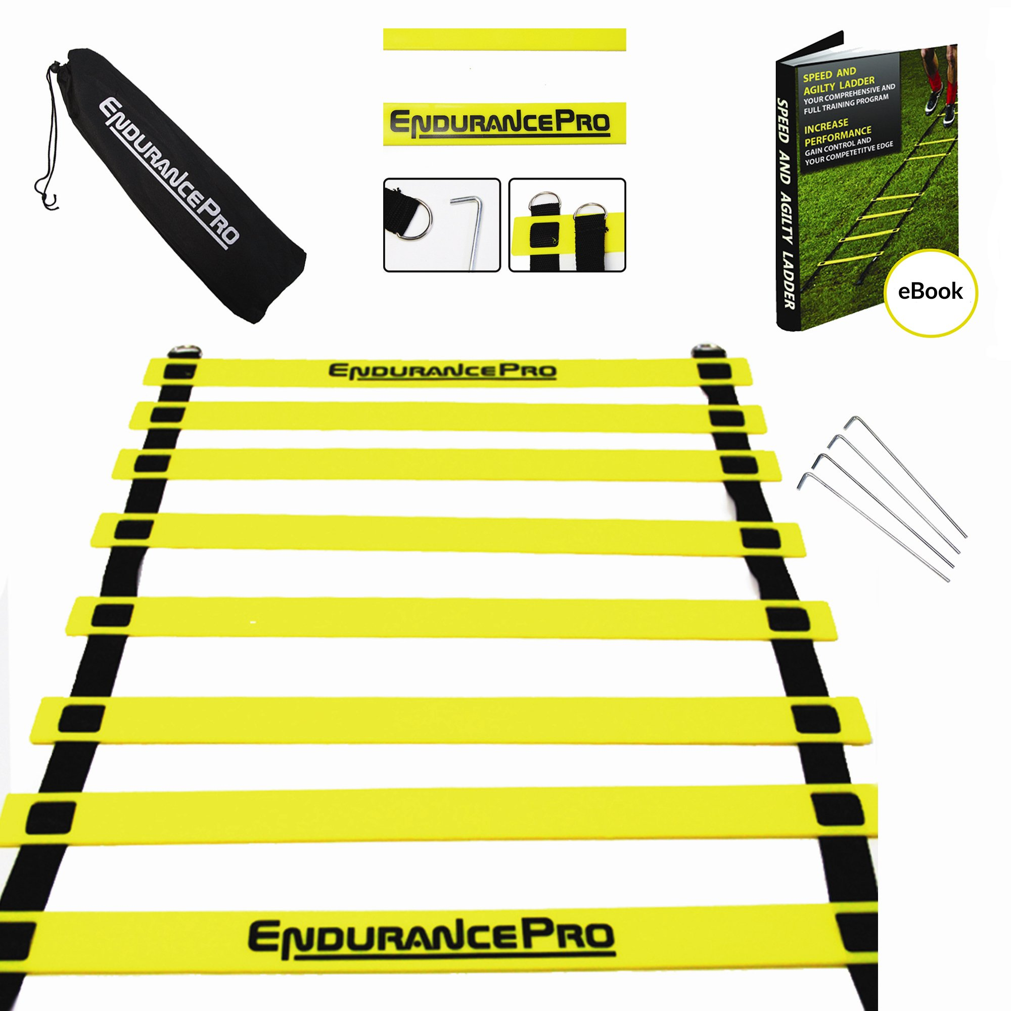 Agility Ladder Ideal Workout Ladder Training Ladder With Ladder Drills eBook, - Value Training - Ideal Soccer Training Equipment Ideal Football Training Equipment By Endurance Pro by Endurance Pro