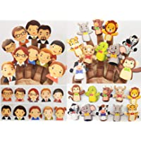 GoAppuGo Pack of 20 Family Members and Animals Finger Puppets for Kids Babies Story Time Activity Toys for 1 2 3 Year Old, Educational Toys for Kids 2 3 4 Year Old, Learning Kids Toys