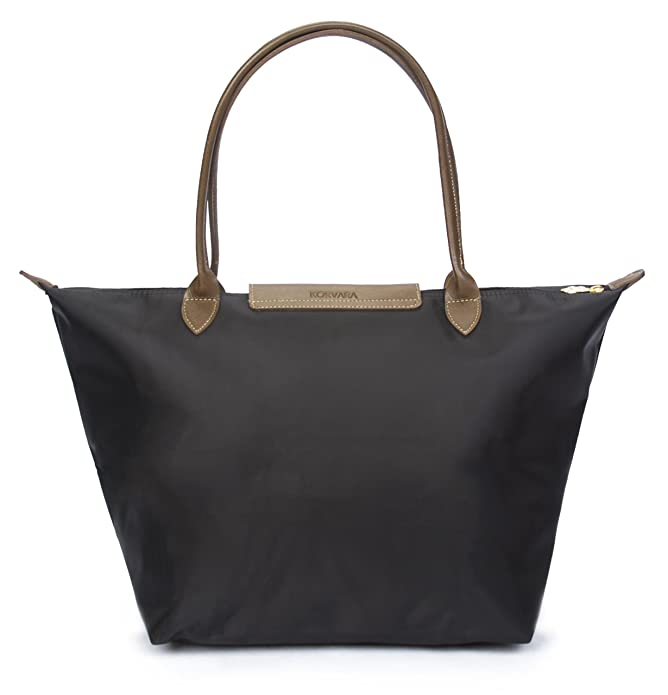 Amazon.com: Korvara Women's Tote Bag, Premium Nylon and Vegan ...