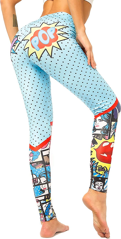 Amazon.com: Triv Yoga Pants High Waist Patterned Workout Tummy Control Leggings for Women: Clothing