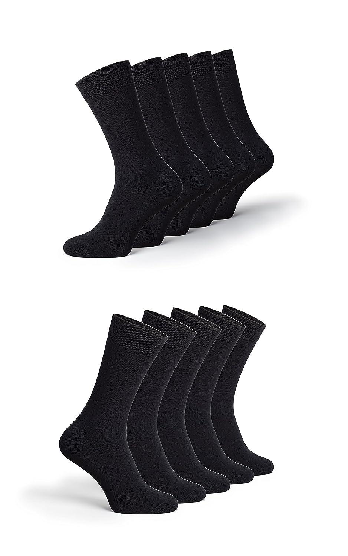 calcetines de ocio para mujeres y hombres 10 pares negro Calcetines de negocio Greylags