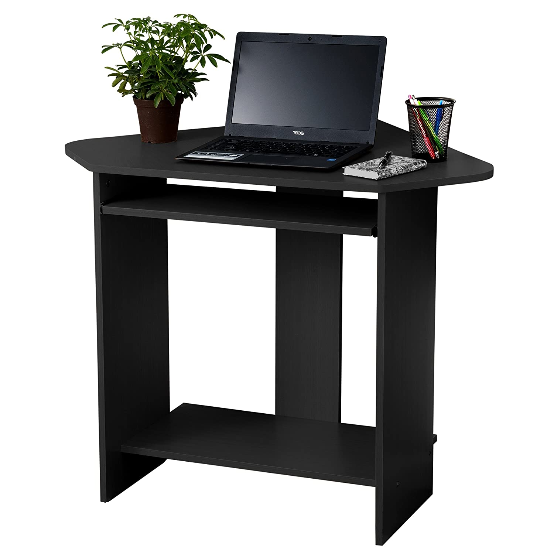Fineboard Home Office Compact Corner Desk, Black