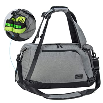 6b92d7a8da31 Sports Gym Bag with Shoes Compartment Travel Duffel Bag for Men and Women