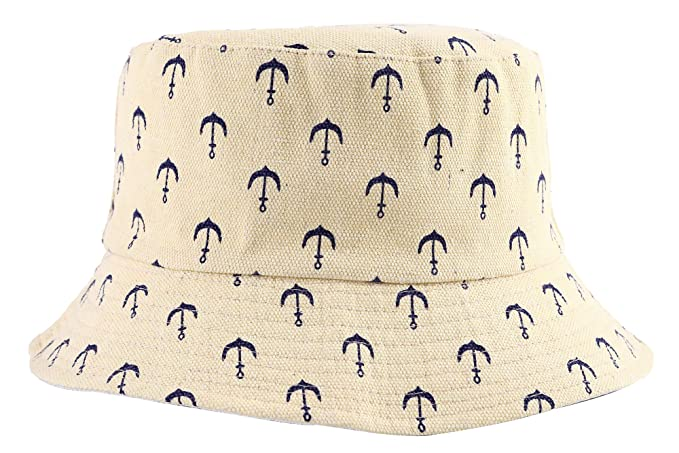 c5cdaef4a ZLYC Unisex Cute Print Bucket Hat Summer Fisherman Cap