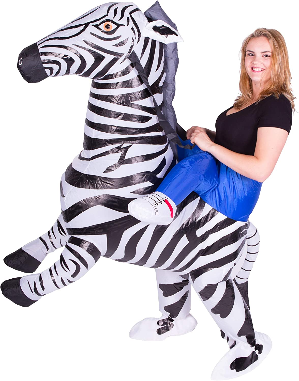 Bodysocks® Disfraz Hinchable de Cebra Adulto: Amazon.es: Juguetes ...