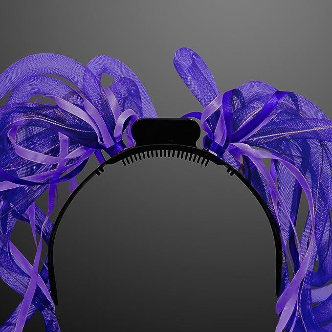 Amazon.com: Light Up Morado fideos de pelo headband: Toys ...