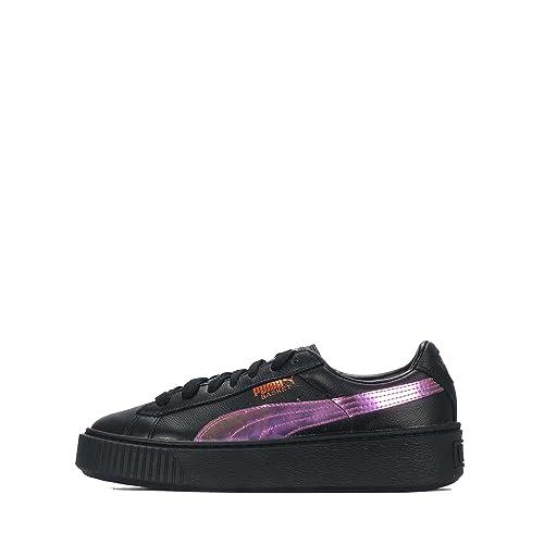 sports shoes 2ca52 3c401 Puma Juniors - Basket Platform Rainbow Jr - Black Purple ...