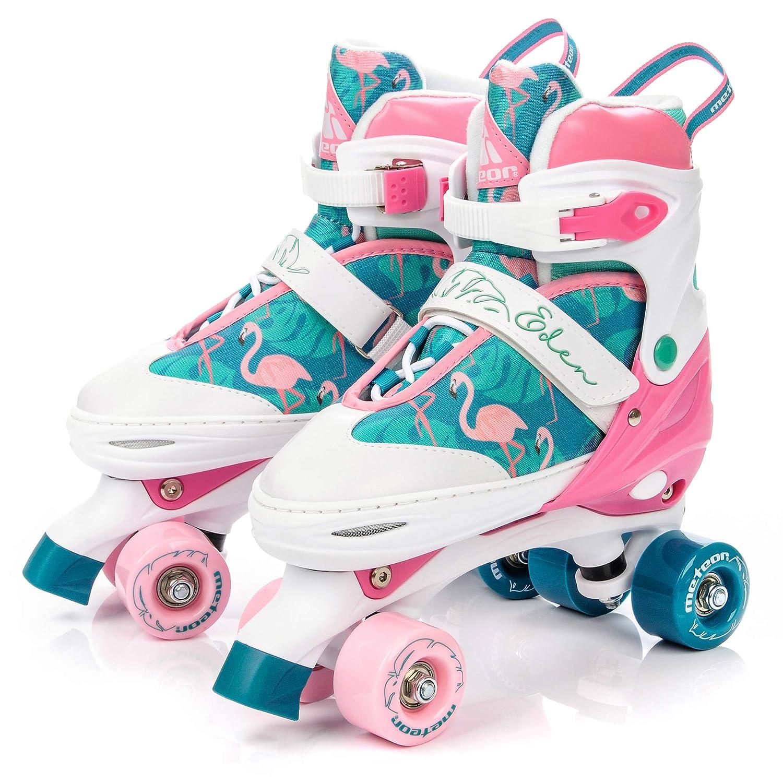 TALLA M 35-38. meteor Retro Patines Disco Roler Skate 3 en 1 Patines en Linea Patines en Paralelo 4 rueadas Quad Skate para niños de Adolescentes y Adultos tamaño Ajustable del Zapato para Cada estación del año