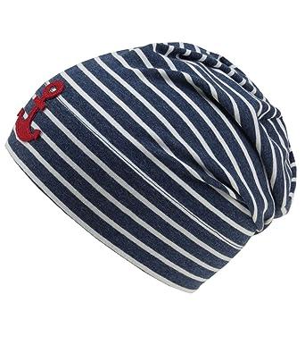 745298bf4b8 EveryHead Fiebig Baby Beanie Boy S Hat Jersey Cap Summer Striped MTI Anchor  for (FI-87018-S18-BJ0) Incl Hutfibel