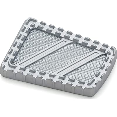 Kuryakyn 3574 Motorcycle Foot Control: Riot Brake Pedal Pad for 1980-2020 Harley-Davidson FL Motorcycles, Silver: Automotive