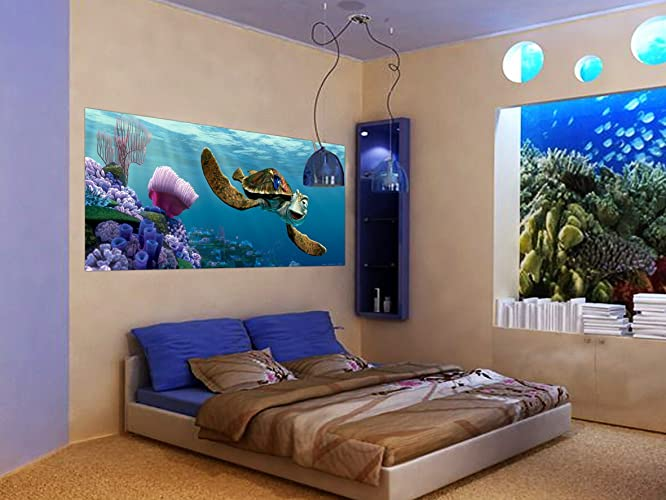 WallandMore Disney Finding Nemo Wall Decal Mural For Boys Room 79.5u0026quot; W  By 35.5u0026quot;