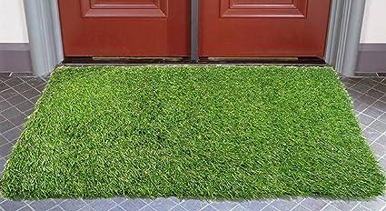 Handtex Home Artificial Grass Door Mat, 40x60cm (15.75x23.63-Inches)