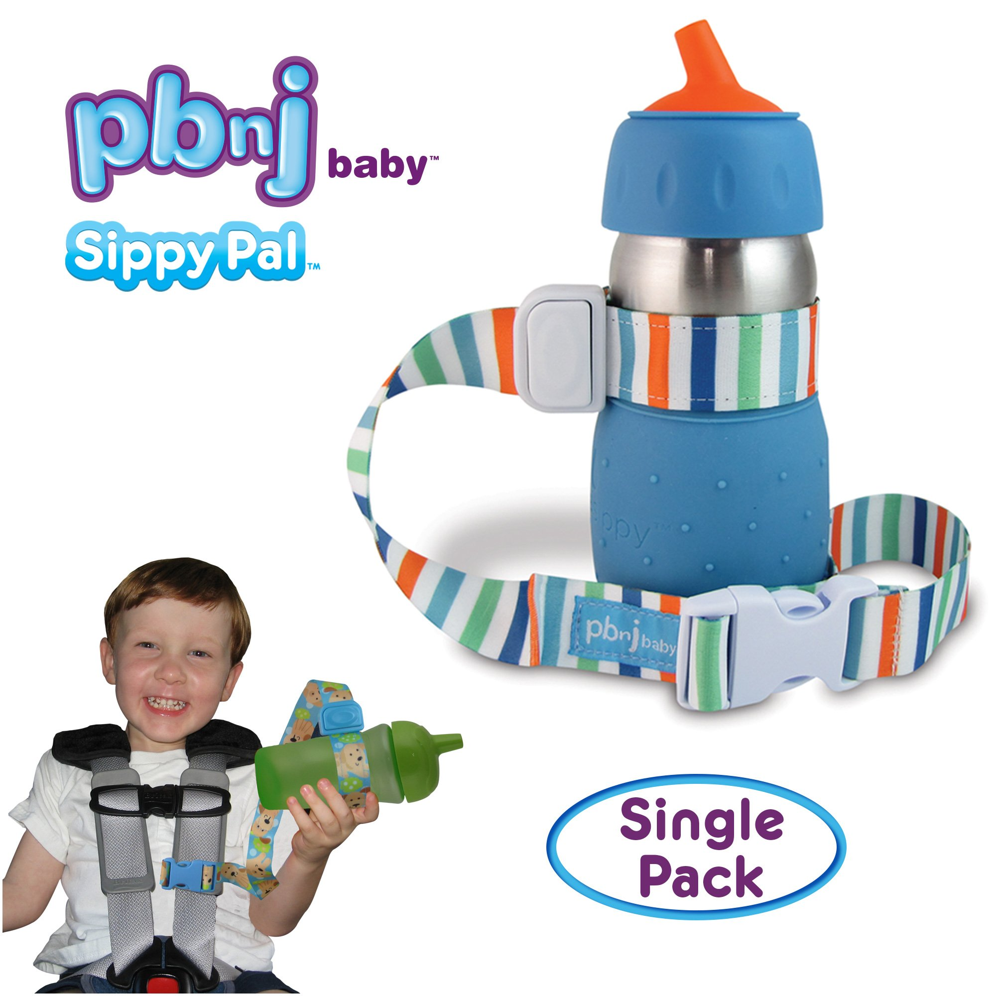 PBnJ Baby SippyPal Sippy Cup Strap Holder Leash Tether (1 Beach)