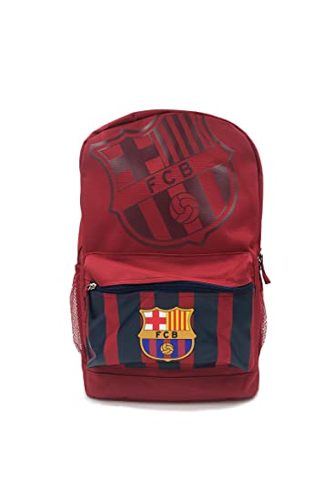 Icon Sports Official Licensed Backpack, FC Barcelona, Team Striped Maroon