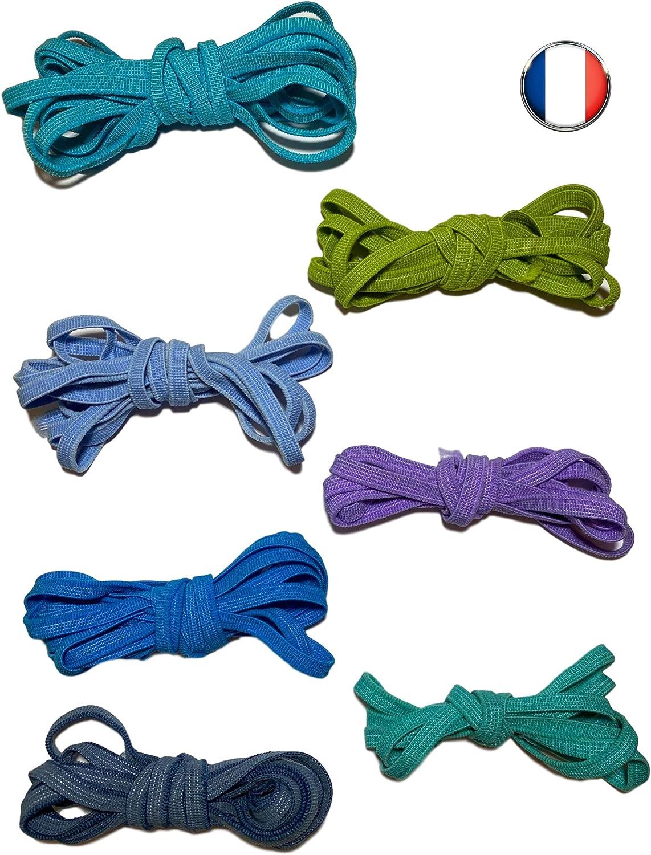 Set di cuciture elastiche per lotti da 5 mm Strisce piatte da 35 metri Multicolore
