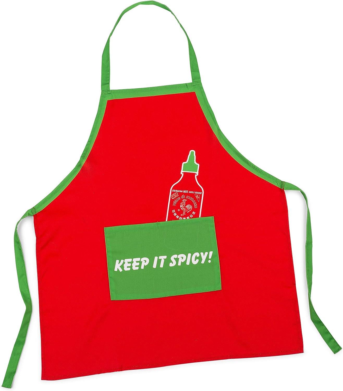 Sriracha Apron Red and Green